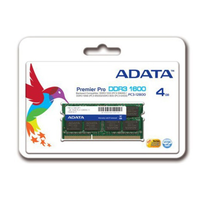 Памет 4GB DDR3 1600MHz SO-Dimm, A-Data Premier Series image