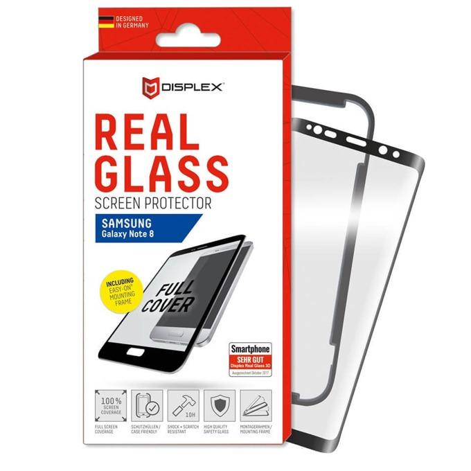 Протектор от закалено стъкло /Tempered Glass/ Displex Real Glass Protector 3D, за Samsung Galaxy Note 8 image