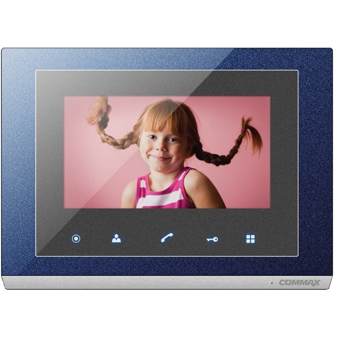 """Цветен Видеодомофон Commax CMV-70S, цветен, 7.0""""(17.78 cm) TFT Wide Screen екран, до 2 камери/2 монитора/ 2 интерфона image"""