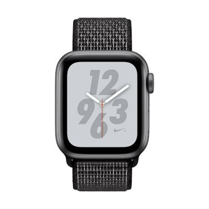 Смарт часовник Apple Watch Nike+ S4 40mm, OLED дисплей, водоустойчив, спортна каишка, черен image
