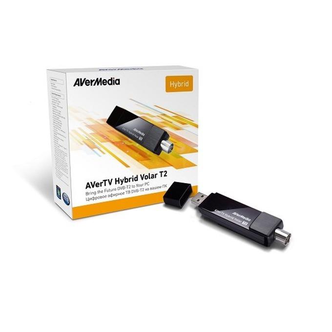TV Тунер AVer Media AVerTV Hybrid Volar T2, от 1x USB А 2.0(м), RCA, 3D поддръжка, H.265(HEVC)/MPEG-2/MPEG-4, DVB-T/DVB-T2 image