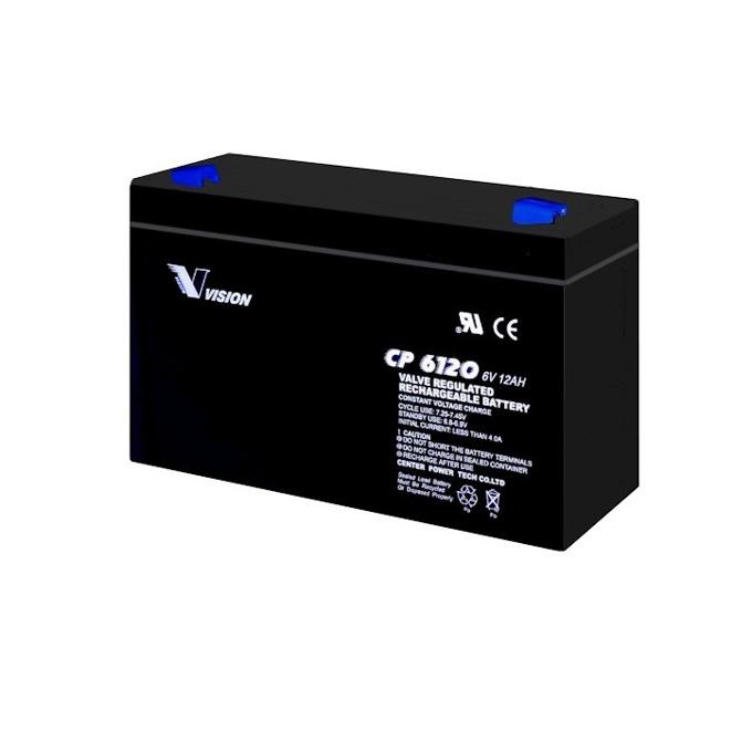 Акумулаторна батерия Vision CP6120F1, 6V, 12 Ah, VRLA image