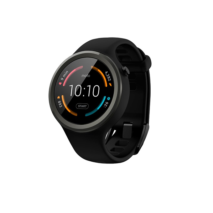 "Смарт часовник Motorola 360 Sport, 1.37"" AnyLight Hybrid дисплей, Bluetooth, 4GB Flash памет, Wi-Fi 802.11 b/g, черен image"