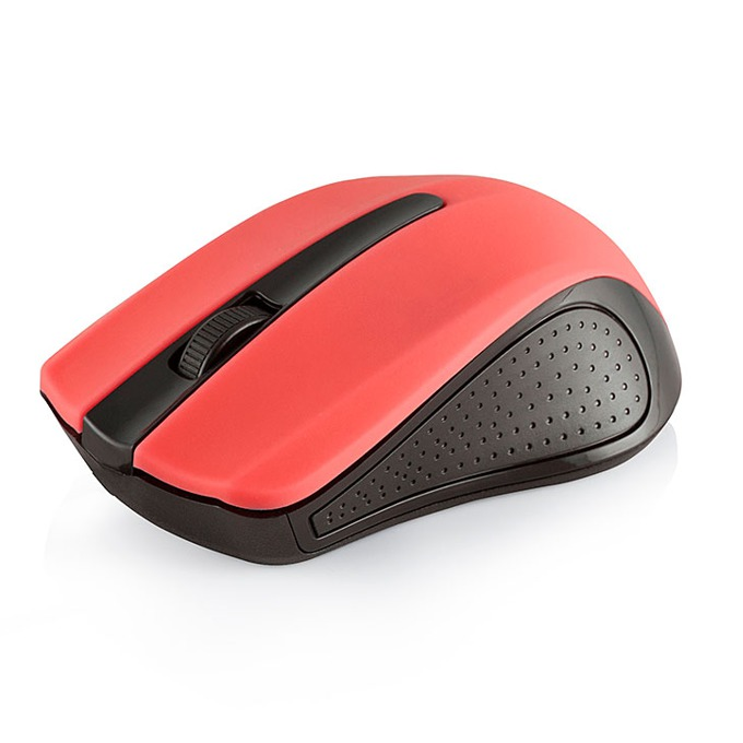 Мишка Modecom MC-WM9, оптична (1600 dpi), безжична, обхват до 10м, USB, червена image