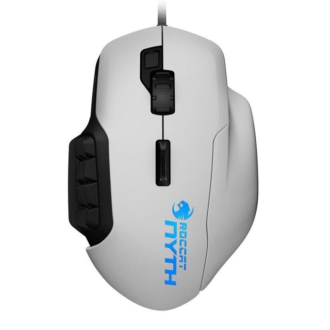 Мишка ROCCAT Nyth, оптична (12000 dpi), USB, бял, сменяеми части 18 бутона image