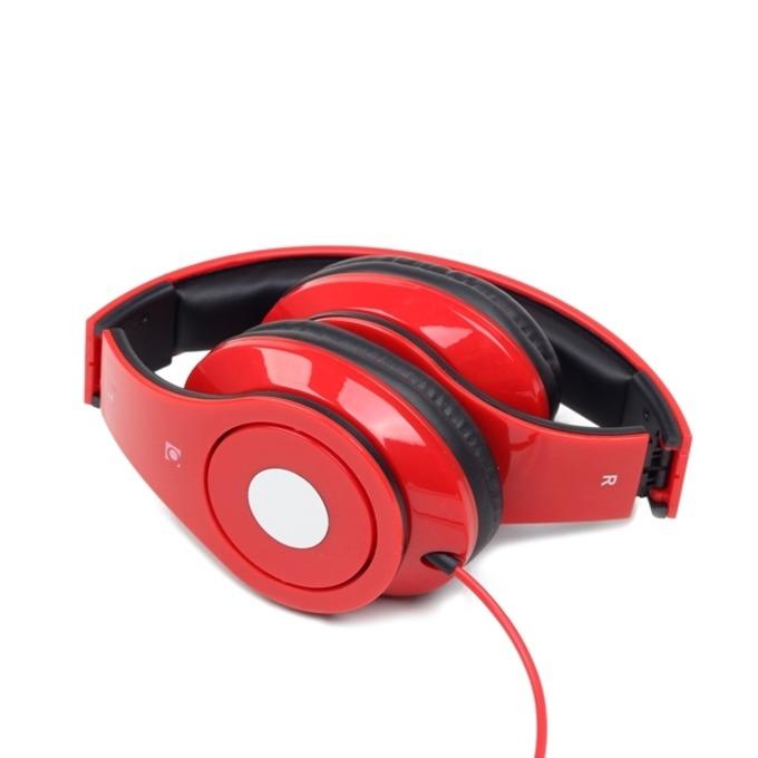 Слушалки Gembird Detroit, микрофон, сгъваеми, червени image