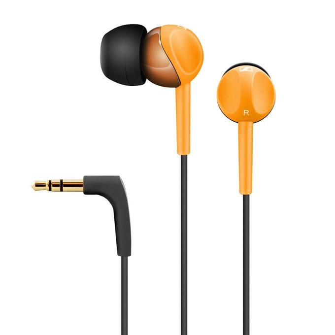 """Слушалки Sennheiser CX 215, тип """"тапи"""", оранжеви image"""