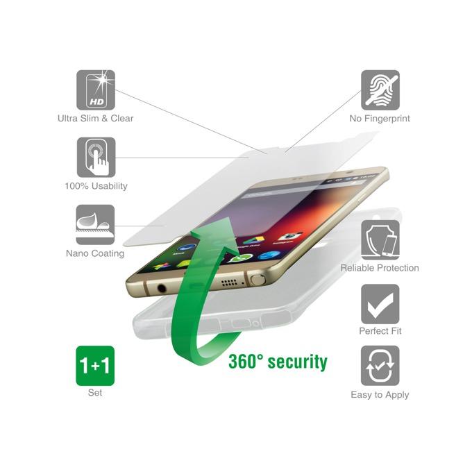 Протектор от закалено стъкло /Tempered Glass/, 4Smarts за LG V10, в комплект с 4smarts TPU кейс image