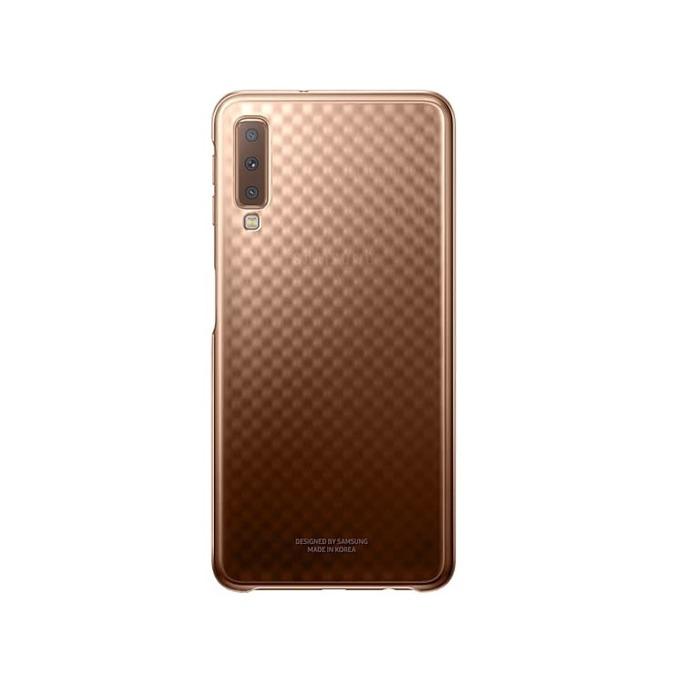 Калъф за Samsung Galaxy A7(2018), поликарбонат, Samsung Graduation Cover, златист image
