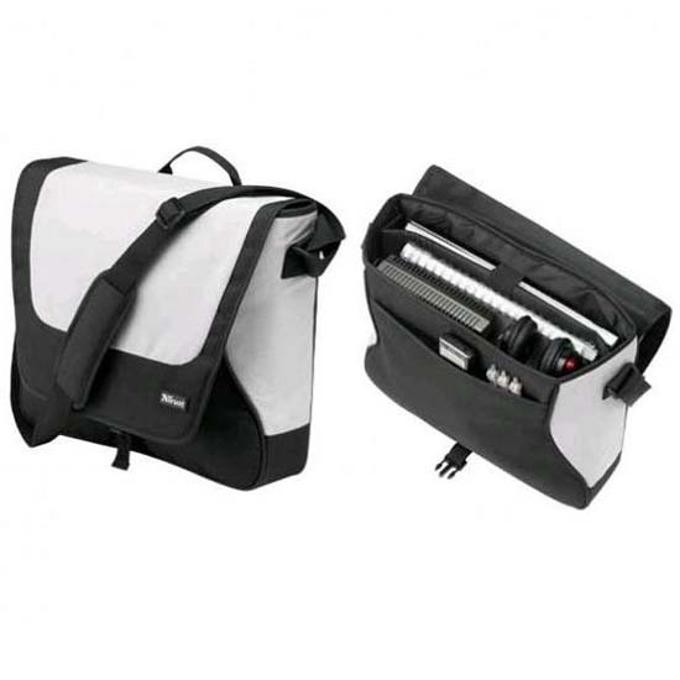 "Чанта за лаптоп Trust BG-3200P, 15.4""(39.12cm), черен/бял image"