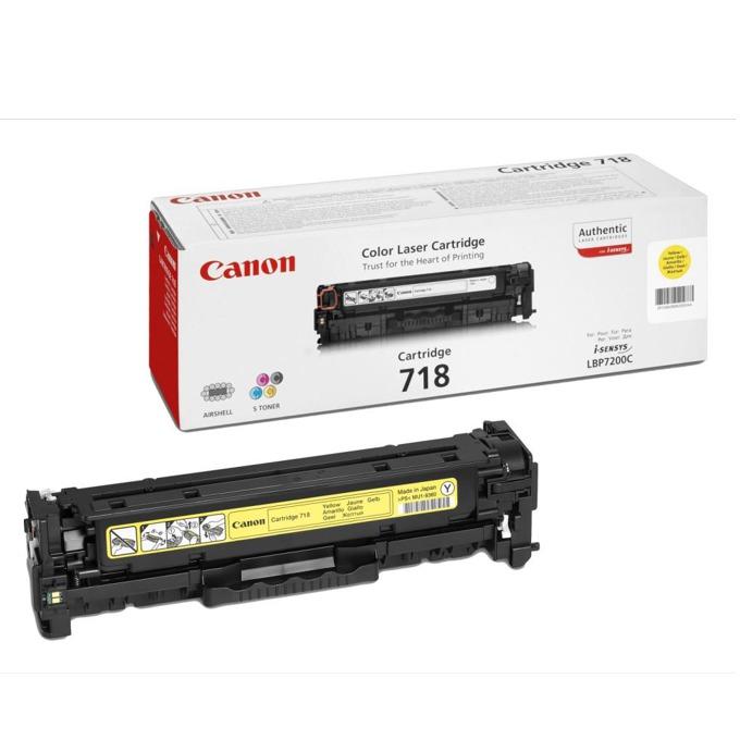 КАСЕТА ЗА CANON LBP 7200/MF 8330/8350 - Yellow - P№ CRG-718Y - CR2659B002AA - заб.: 2900k image