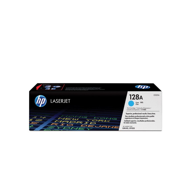 КАСЕТА ЗА HP COLOR LASER JET CM1415/CP1525/HP128A Print Cartridge - Cyan - P№ CE321A - заб.: 1300k image