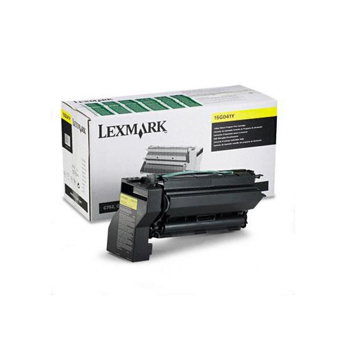 КАСЕТА ЗА LEXMARK C 752 - Yellow - Return program cartridge - P№ 15G041 Y - заб.: 6000k image