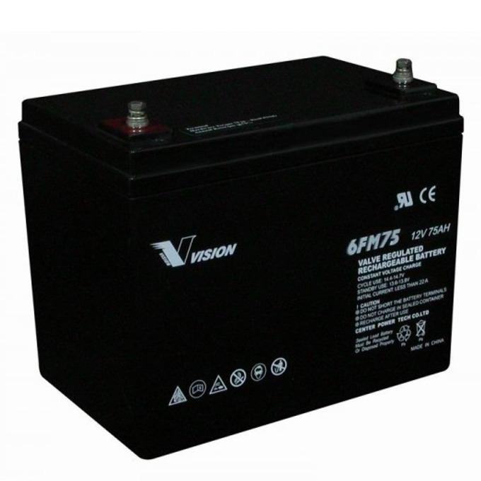 Акумулаторна батерия Vision 6FM75-X, 12V, 75Ah, AGM image