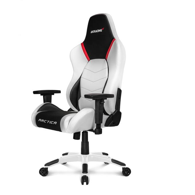 Геймърски стол AKRACING Arctica, бял/черен image