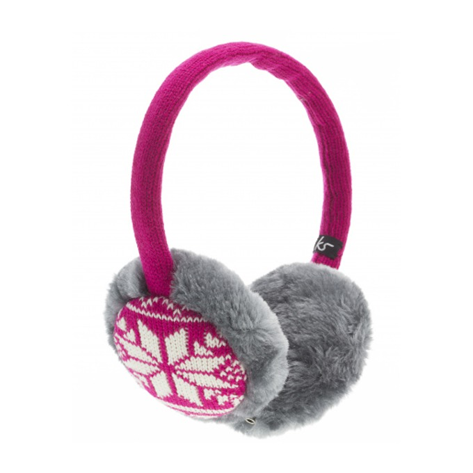Слушалки KitSound Earmuffs Fairislie, розови, с ушанки image