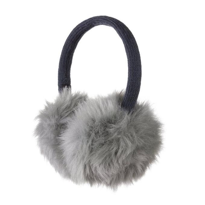 Слушалки KitSound Fur Earmuffs, сиви, с ушанки image
