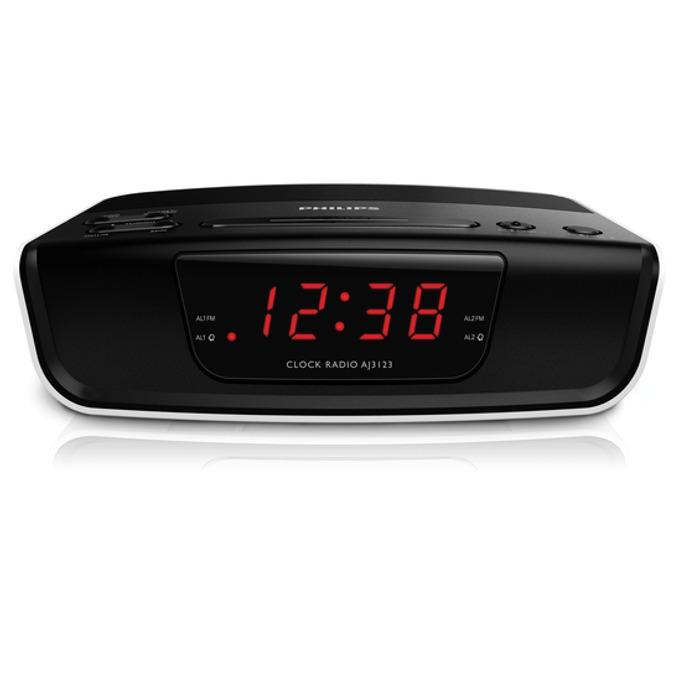 Радиочасовник Philips AJ3123, часовник, AM/FM тунер image