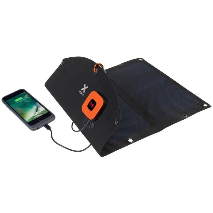 Соларен панел за зареждане A-solar Xtorm SolarBooster 14W Panel AP250, към 2x USB, 5V/2.1A, черно image