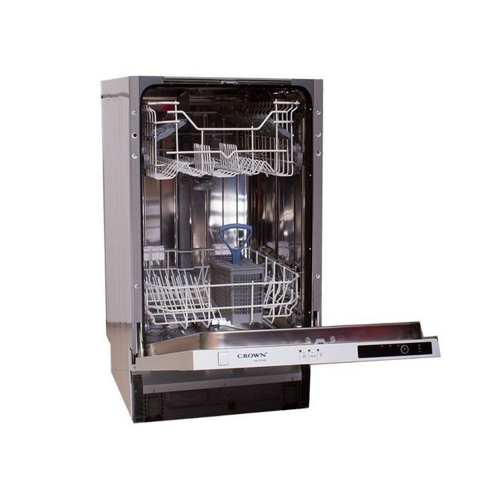 Съдомиялна за вграждане Crown DW 4530 ABI, клас А+, 10 комплекта, 3 програми, 2 температури, защита от преливане, сива image