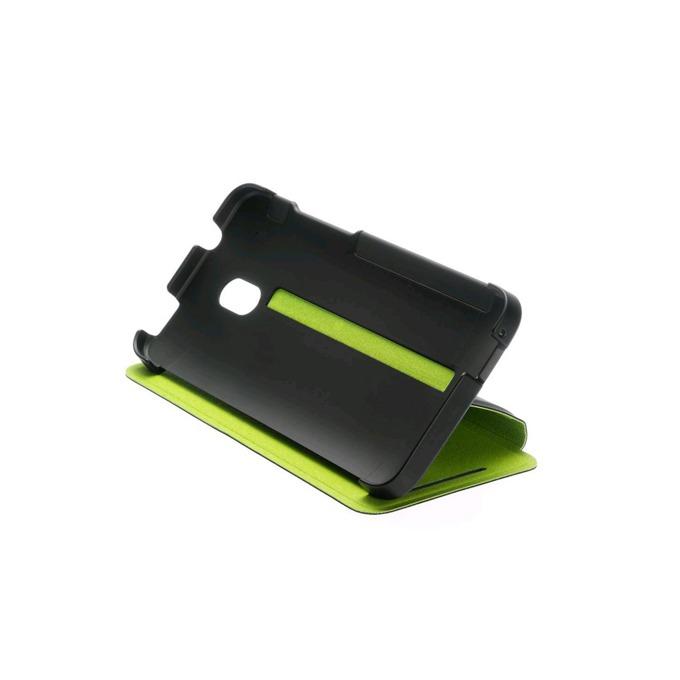 Калъф за HTC ONE mini, отваряем, кожен (еко кожа), HTC Double Dip Flip, черен image