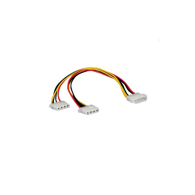 Кабел PSU разклонителен 4pin Molex към 2x 4pin Molex, 5.25 / 2x5.25 image