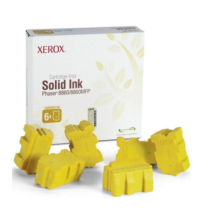 МАСТИЛО ЗА XEROX ColorStix ЗА PHASER 8660/8860MFP - ink 6 Yellow Sticks - P№ 108R00819 - заб.: 14000k image