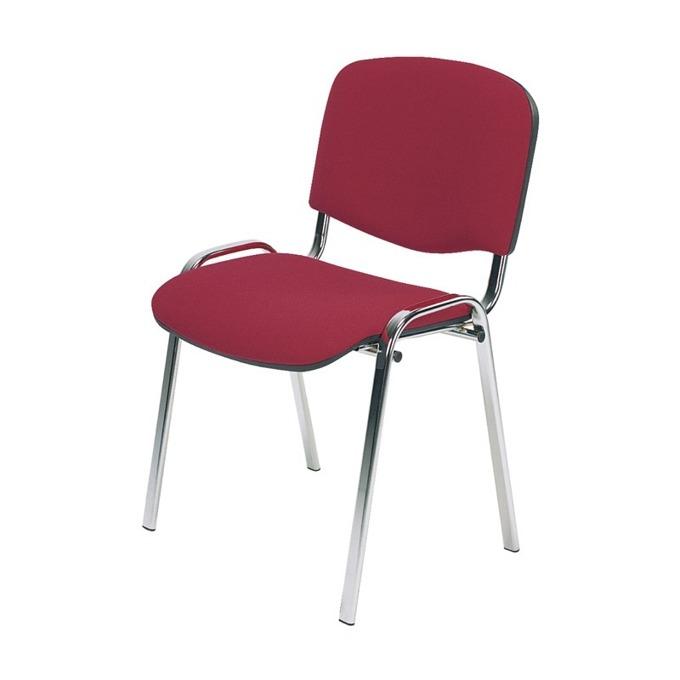 Посетителски стол Nowy Styl Iso Chrome C02, текстил, червен image