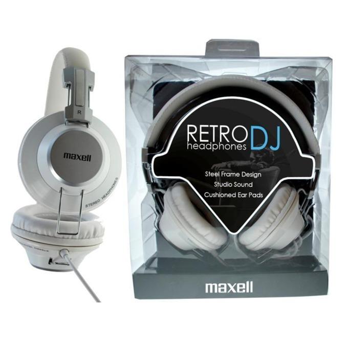 Слушалки MAXELL RETRO DJ2 WHITE, микрофон, бели image