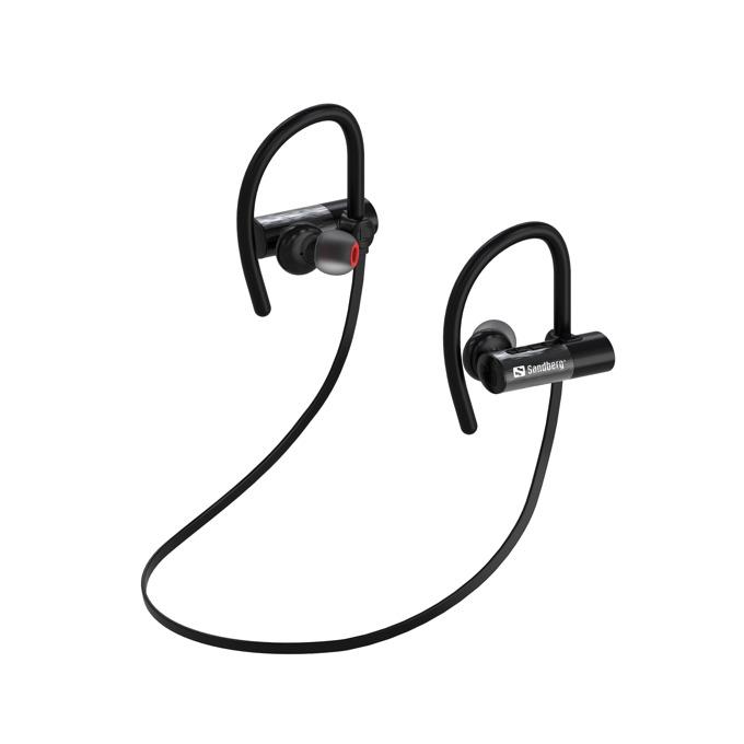 Слушалки Sandberg Sports Earphones, безжични, микрофон, Bluetooth, спортни, до 8 часа възпроизвеждане, черни image