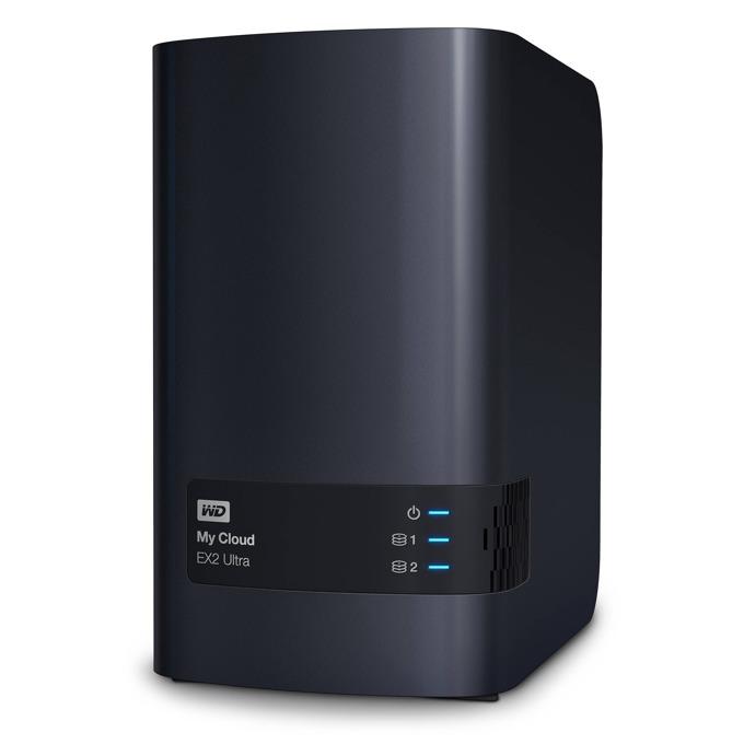 WD My Cloud EX2 Ultra, дву-ядрен Marvell ARMADA 385 1.3GHz, без твърд диск (2x SATA), 1GB RAM, Lan1000, 2x USB 3.0 image