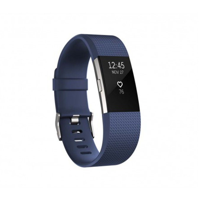 Смарт гривна Fitbit Charge 2 Small Size, Bluetooth, GPS, OLED Display, Mac OS X 10.6 (или по-нова), iPhone 4S (или по-нова), iPad 3 gen. (или по-нова), Android and Windows 10 devices, синя image