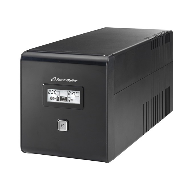 Powerwalker VI LCD 1000VA UPS, 1000VA/600W