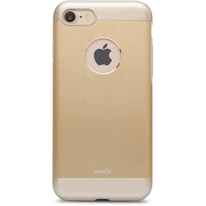 Калъф iPhone 7, удароустойчив, алуминиев кейс, Moshi, Moshi iGlaze Armour, златист image