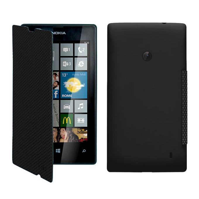 Калъф за Nokia Lumia 520, Flip Cover, черен image