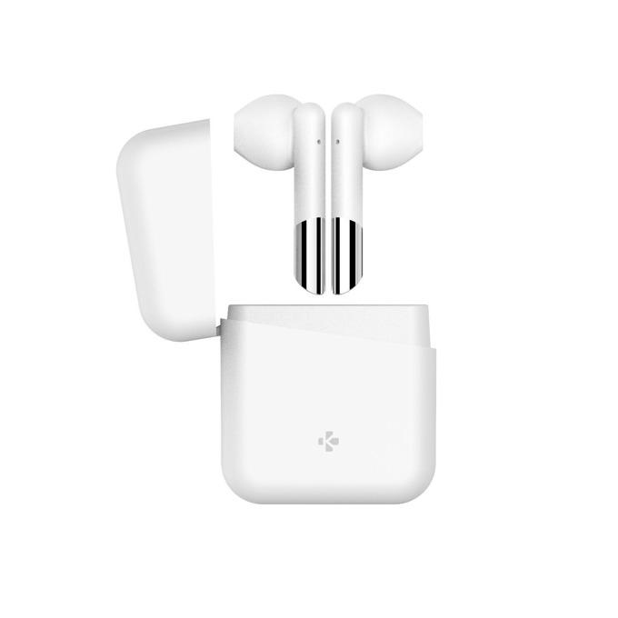 Слушалки MyKronoz ZeBuds Lite, безжични, микрофон, Bluetooth, кутия за зареждане, бели image