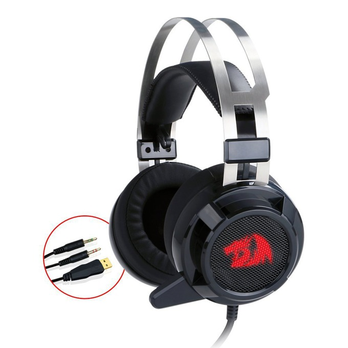 Слушалки Redragon Siren H301, USB, микрофон, 7.1 канала, гейминг, черни image