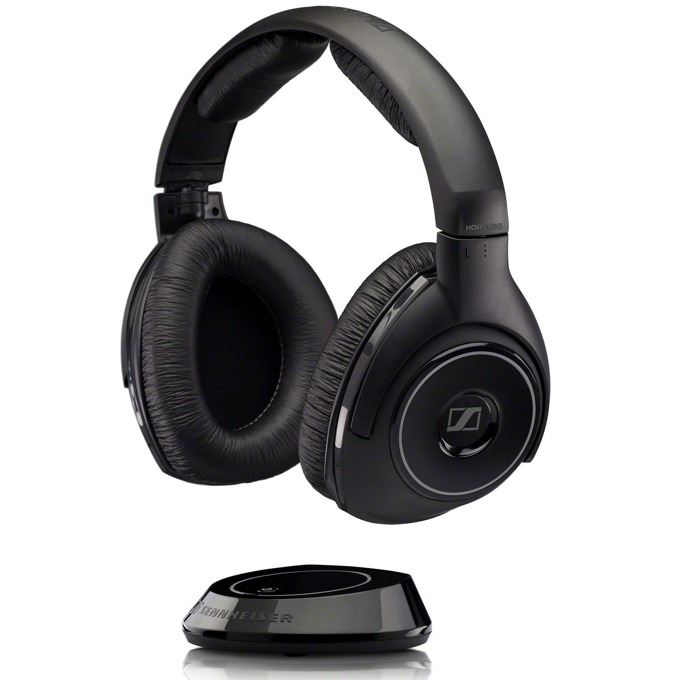 Слушалки Sennheiser RS 160 в комплект с предавател TX 160, безжични, 18Hz - 21kHz честотен диапазон, обхват до 20 метра, черни image