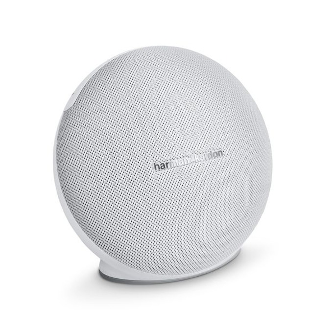 Тонколона Harman Kardon Onyx Mini, 2.0, 16W, безжична, Bluetooth, 3.5 mm jack, бяла, микрофон, възможност за свързване с до 3 утройства image