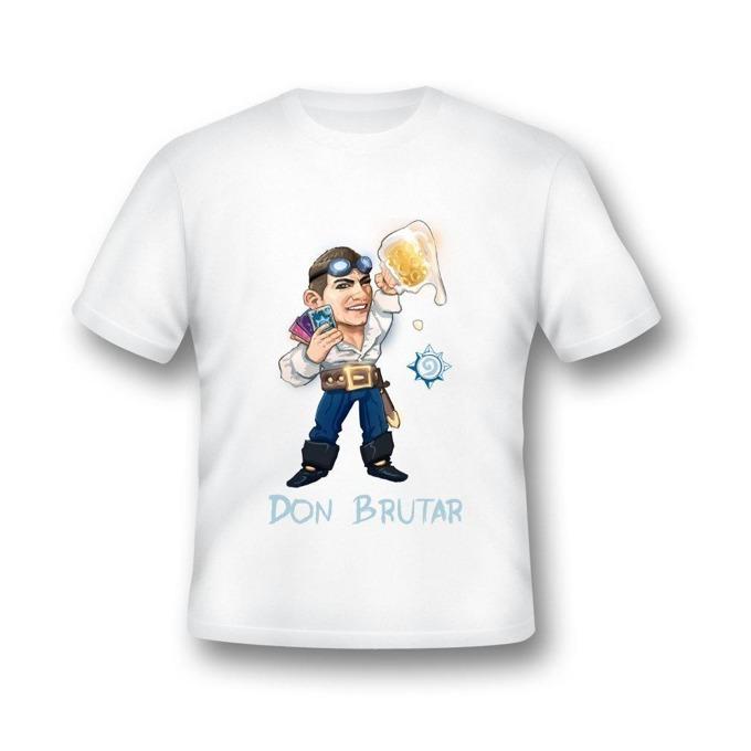 Тениска GplayTV DonBrutar, размер XXL, бяла image