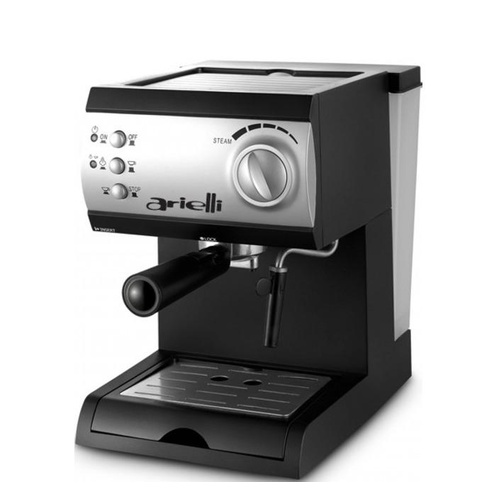 Ръчна еспресо машина Arielli KM-150BS, 1050W, 1.5 л. воден резервоар, 15 бара налягане, черна  image