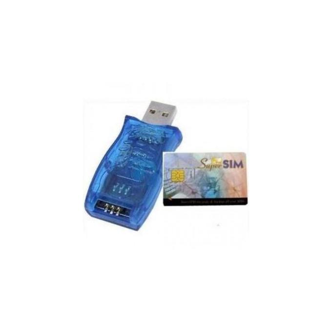 Четец за карти Estillo, USB 2.0, за SIM карти, син image