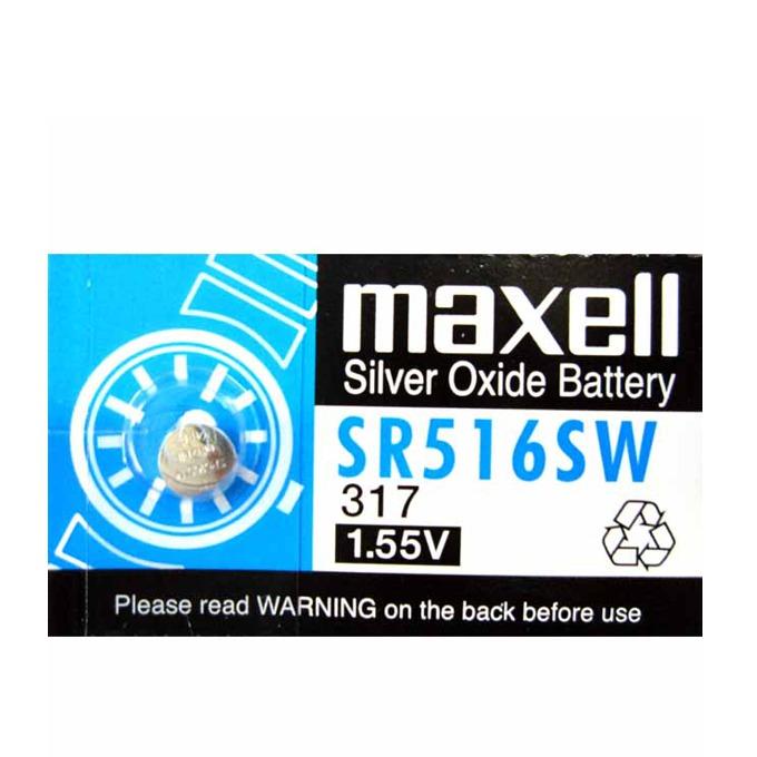 Батерия сребърна Maxell SR, R516SW, 1.55V, 1 бр.  image