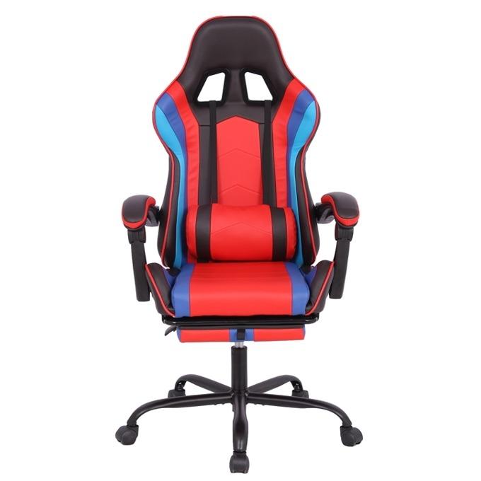 Геймърски стол RFG Max Game (ON4010200084), еко кожа, 150 кг. максимално натоварване, стоманена база, газов амортисьор, черен/червен image