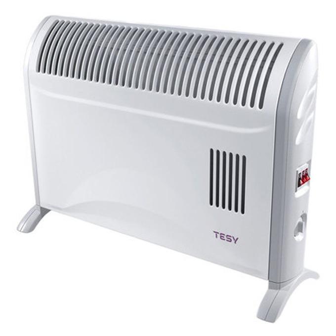 Конвектор Tesy CN 204 ZF, 3 степени на мощност, терморегулатор, термостат, топловентилатор, 2000W, сив image