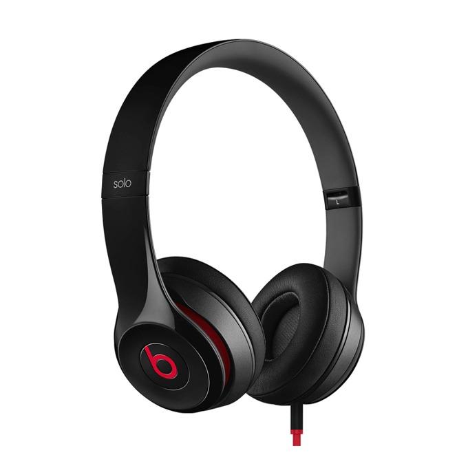 Слушалки Beats by Dre Solo HD 2.0 On Ear, черни, микрофон, сгъваеми, оптимизирани за iPhone/iPad/iPod image