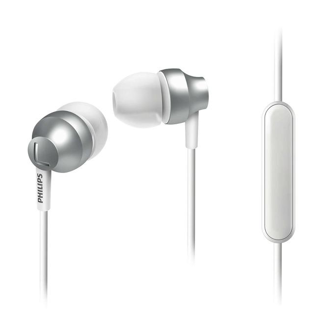 """Слушалки Philips SHE3855SL, тип """"тапи"""", микрофон, сребристи image"""