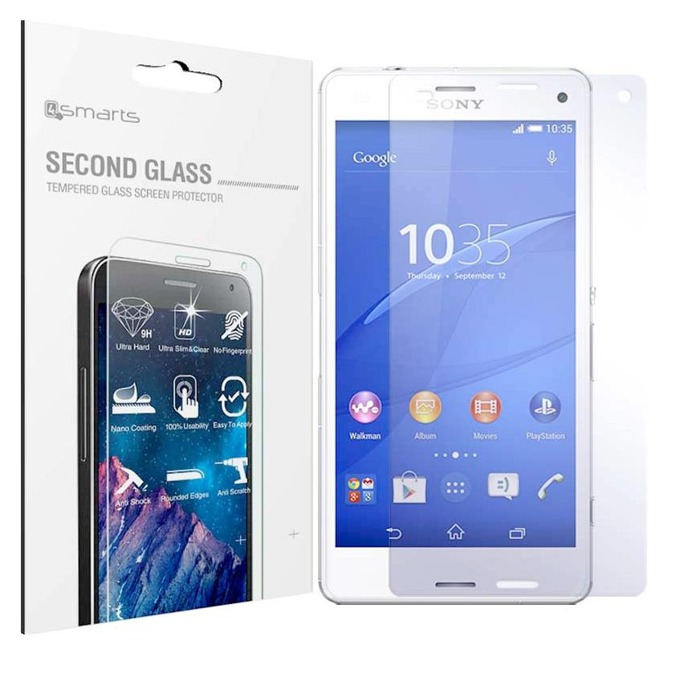 Протектор от закалено стъкло /Tempered Glass/ 4smarts Second Glass за Sony Xperia Z3 Compact, прозрачен image