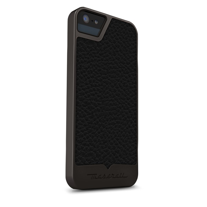Калъф за Apple iPhone 5/5S/SE, кожен, Beyza, Maserati Calandra grey, сив image