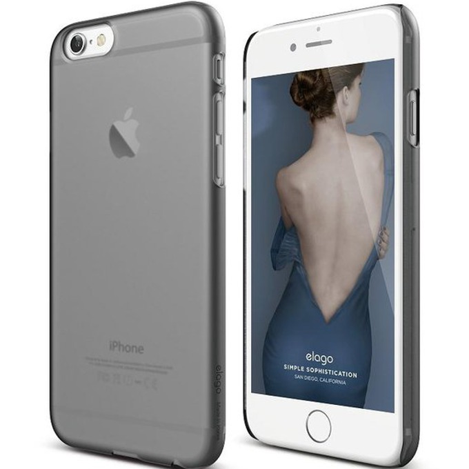 Поликарбонатов протектор Elago S6 Slim Fit 2 Case + HD Clear Film за iPhone 6, опушен, HD покритие image